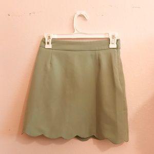 ASOS Scalloped Mint Skirt